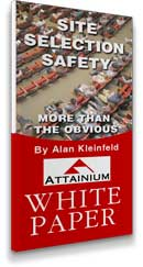"Image of our white paper entitled ""Site Selection Safety"""